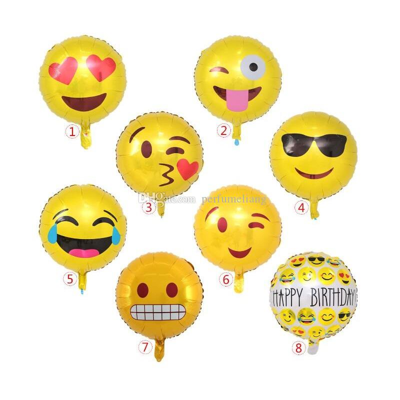 Emoji Foil Helium Balloons Aluminum Party Decoration Inflatable Wedding Balloon Birthday Decorations QW8560 UK 2019 From Perfumeliang