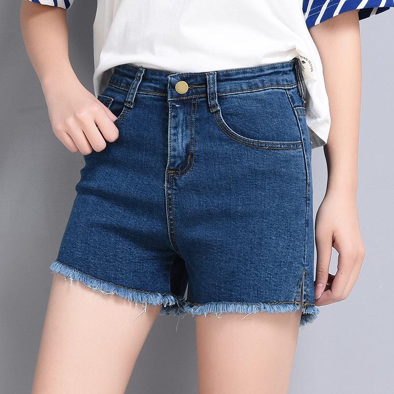 37139ebd52 Acheter Shorts En Denim Femmes Shorts Taille Haute Maman Jeans Wasted Bord  De Cheveux Bleus Solide Tout Droit Slim Sexy Casual 2018 Été K9320 De  $28.96 Du ...