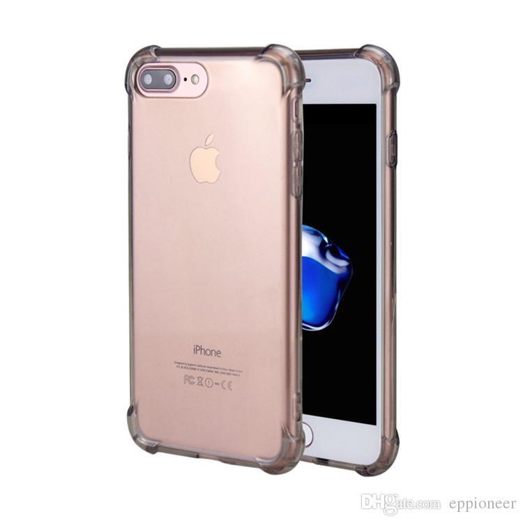 Casos de alta qualidade para 2018 NOVO iphone X XR XS MAX Caso Crystal Clear Reforçado Cantos TPU Bumper Almofada Anti-risco Híbrido Robusto