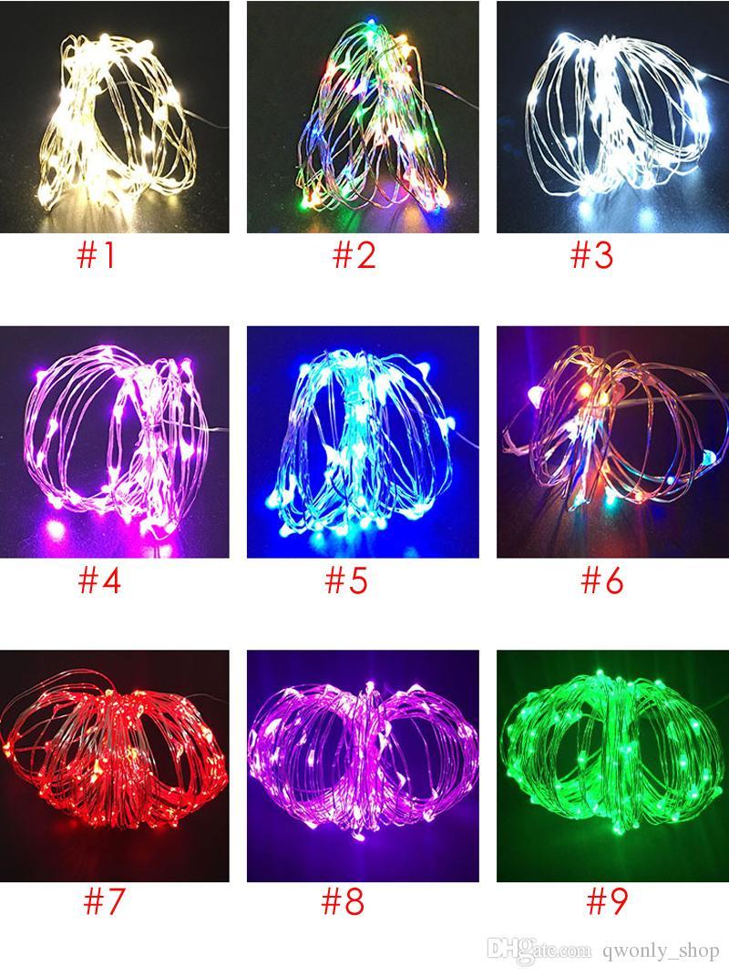 LED Vase string lumière bouton étanche exploité piles guirlandes pour la fête de mariage Accueil DIY décorations 9 Couleurs