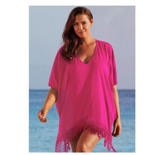 3da2d256fa4 Acheter Femmes Sexy Plus La Taille Tassel Bikini Cover Up Robe De Plage De  Fringe Maillot De Bain Plage De Vacances Porter L Xl Xxl Xxxl 4xl De  21.22  Du ...