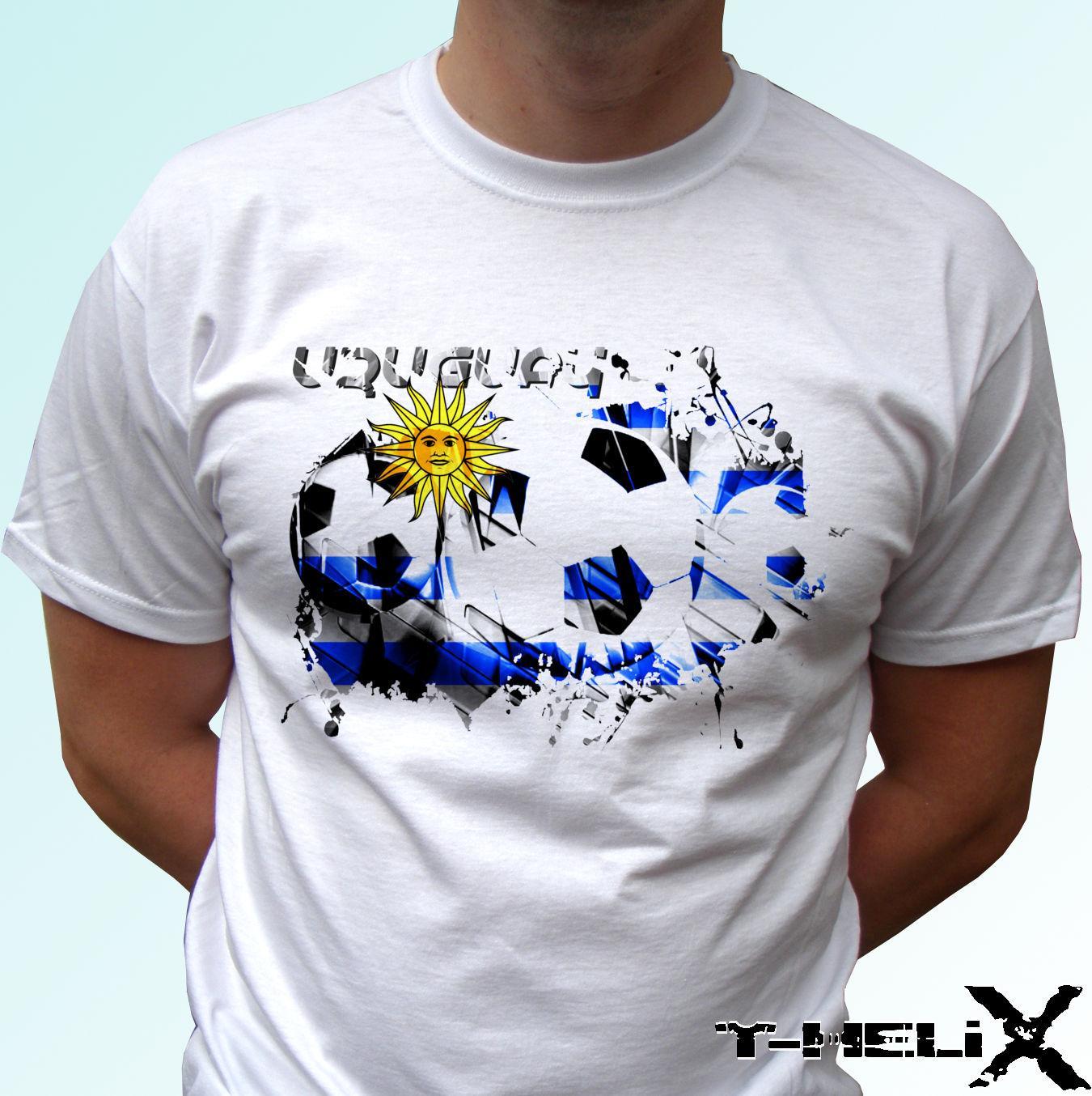 63be6b23a Compre Bandera De Fútbol De Uruguay Camiseta Blanca Camiseta De Fútbol  Superior Hombre Para Mujer Niños Bebé Cool Casual Pride Camiseta Hombre  Unisex Nuevo ...