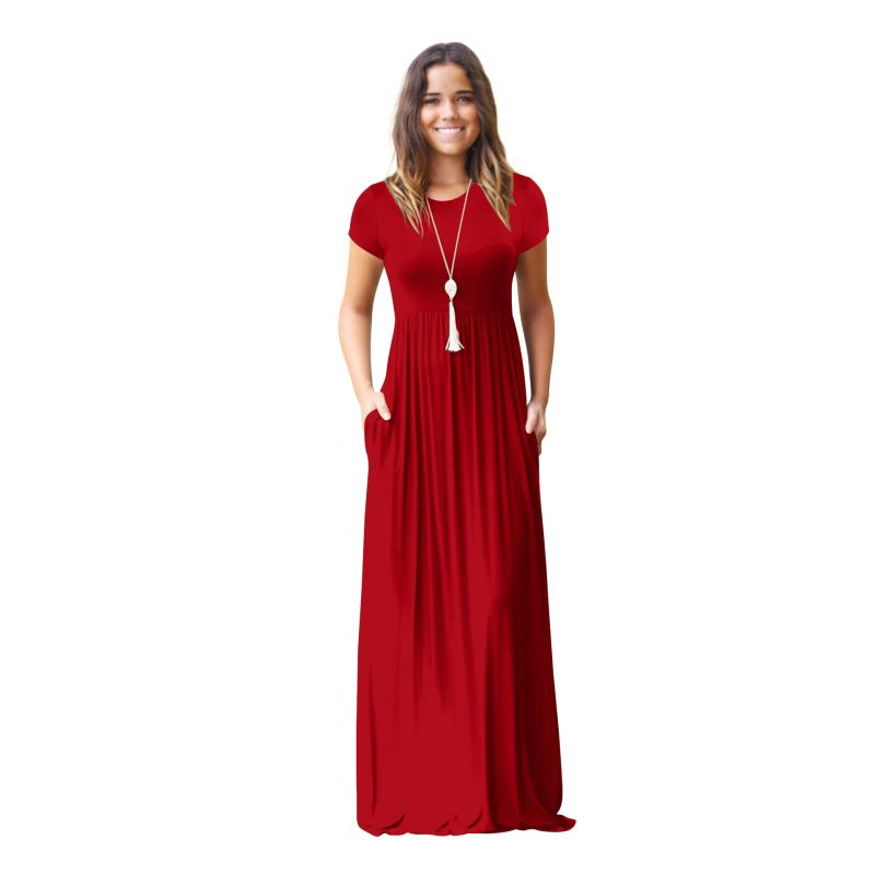 edb4e2c6e3db7 2019 Pregnant Maxi Long Dress Party Wedding Beach Dresses Pregnancy  Maternity Summer Fashion Clothes Solid Casual Clothing From Sugarher,  $42.07 | DHgate.