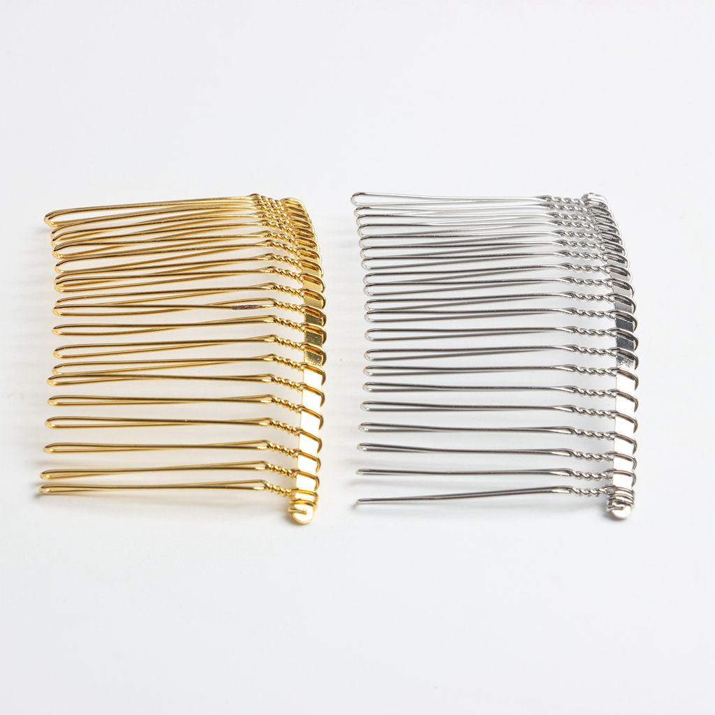 Vintage Handmade DIY Wire Comb Metal Hair Combs Base Plated Women's DIY Wedding Bridal Hair Jewelry