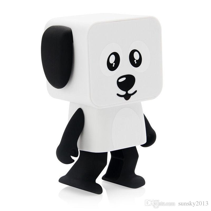 Xmas Gift Mini Bluetooth Speaker Cartoon Wireless Portable Sound Box Dancing Dog Toy Stereo Loudspeaker for iPhone Android PC 2018 Newest