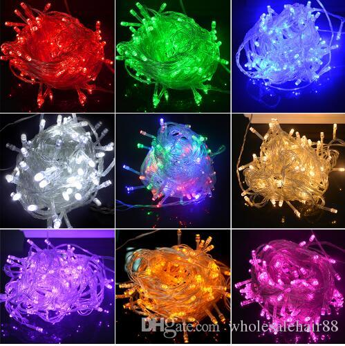 new opening discount 10m waterproof 110v220v led string 100 led rgb white holiday string lights for christmas festival party twinkle lights string of