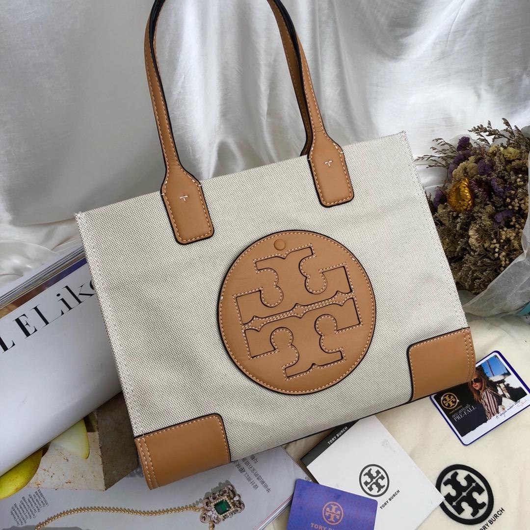 4718b862e67c Designer Tory TB Women ELLA MINI TOTE Canvers Shopping Bag Classic Fashion  Handbags Genuine Leather Trim Top Quality 2 Sizes Laptop Case Shoulder Bags  From ...