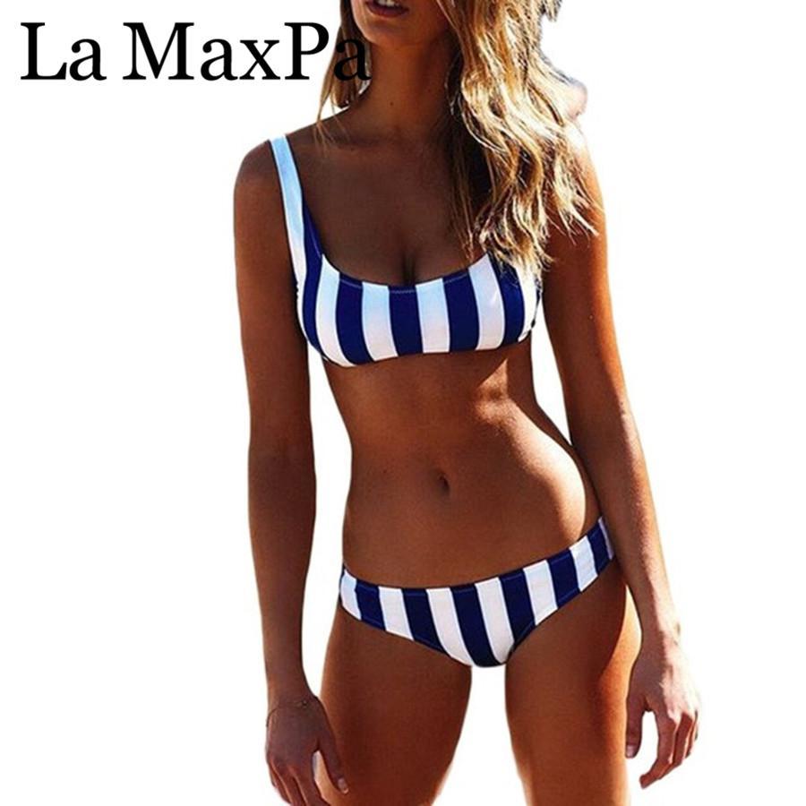 7e9d900e77 2019 Female Swimwear Women Scoop Bikini Set Bathing Suit Swim Wear ...