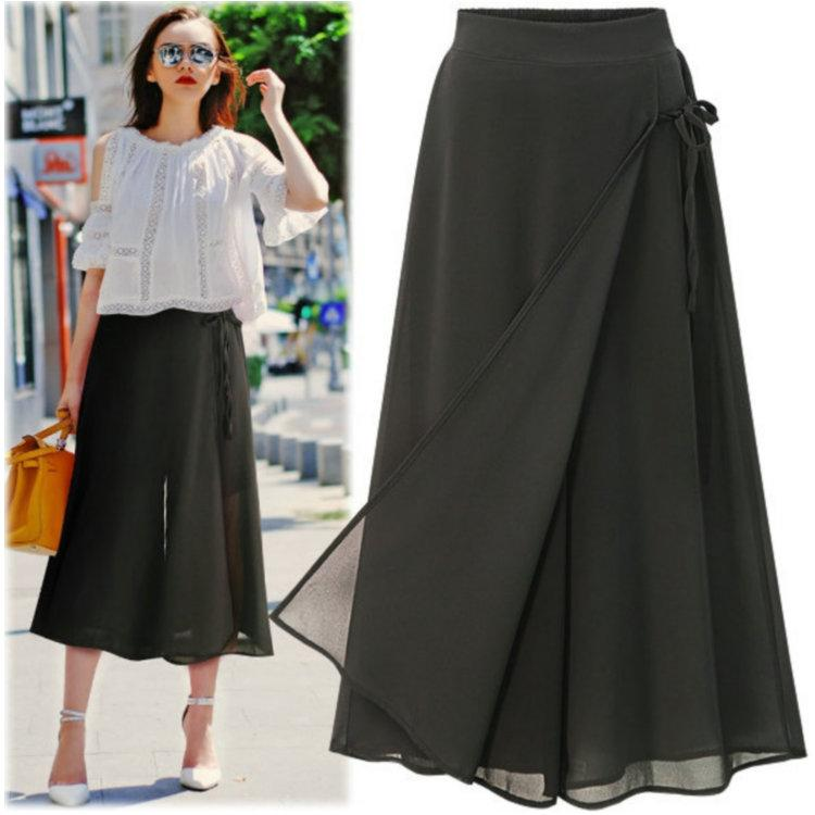 8540ce5a08f Plus Size Wide Leg Pant for Women 2018 Hot New Summer Skirt Pants ...