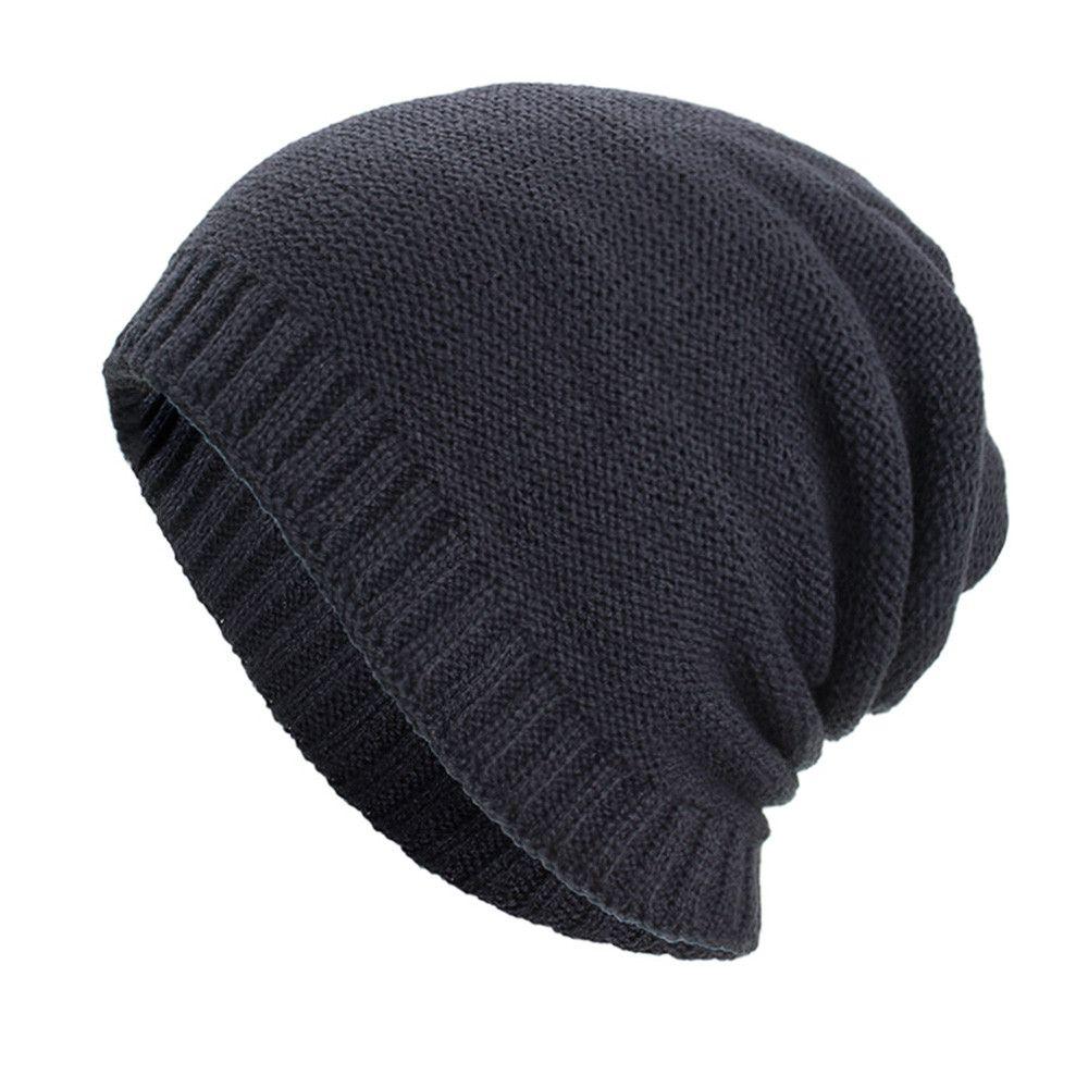 05b12cc6e45bd 2019 Women Men Warm Baggy Weave Crochet Winter Wool Knit Ski Beanie Skull  Caps Hat 9.6 From Taihangshan