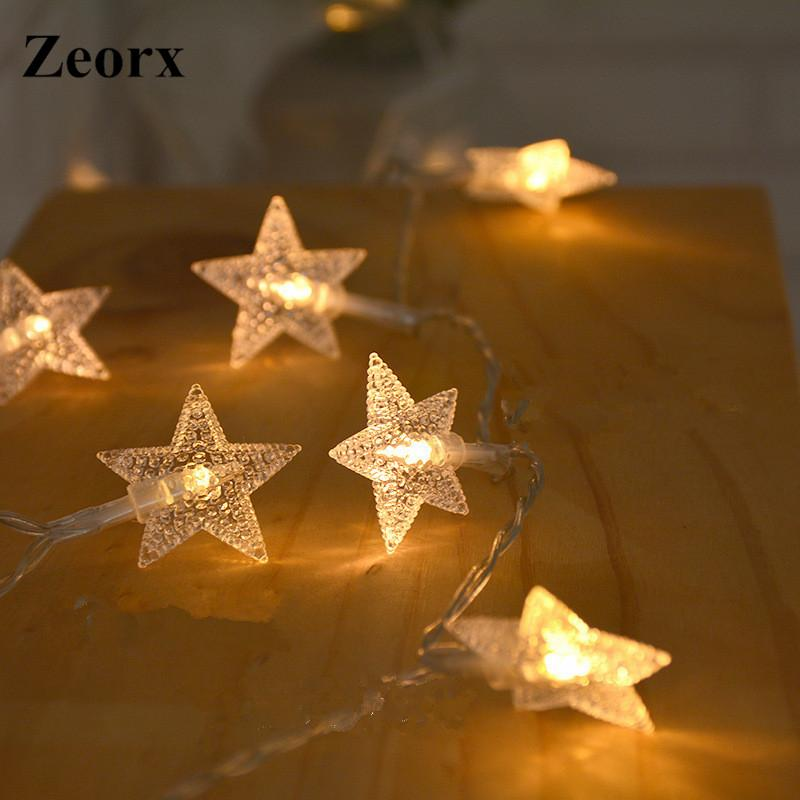 Led Lichterkette Weihnachten.1 Mt Led Warmweiß Stern Lichterkette Led Lichterkette Weihnachten Hochzeit Dekoration Batterie Betreiben Funkeln Nicht Enthalten