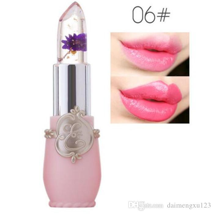 New Long Lasting Moisturizer Transparents Flower Lipstick Cosmetics Waterproof Temperature Change Color Jelly Lipstick Balm X052
