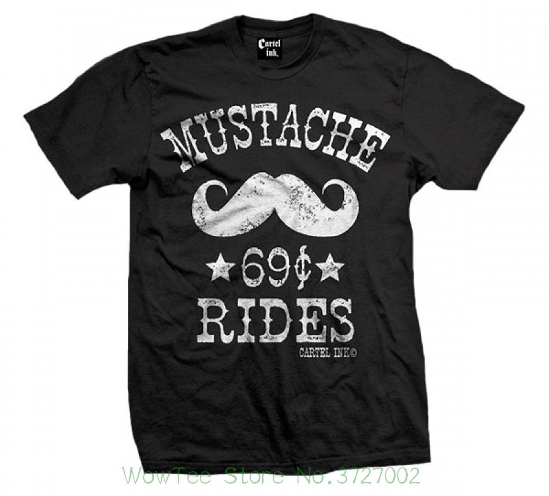 2f4a185c364 Cartel Ink Men s Mustache Ride 69 Cent T-shirt Black Short Sleeve Cheap  Sale Cotton T Shirt