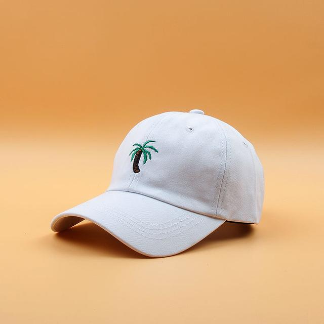 a9ec1133 2018 New Embroidery Palm Trees Curved Dad Hats Take A Trip Baseball Cap  Coconut Trees Hat Strapback Hip Hop Cap Adjustable Customized Hats Custom  Hat From ...