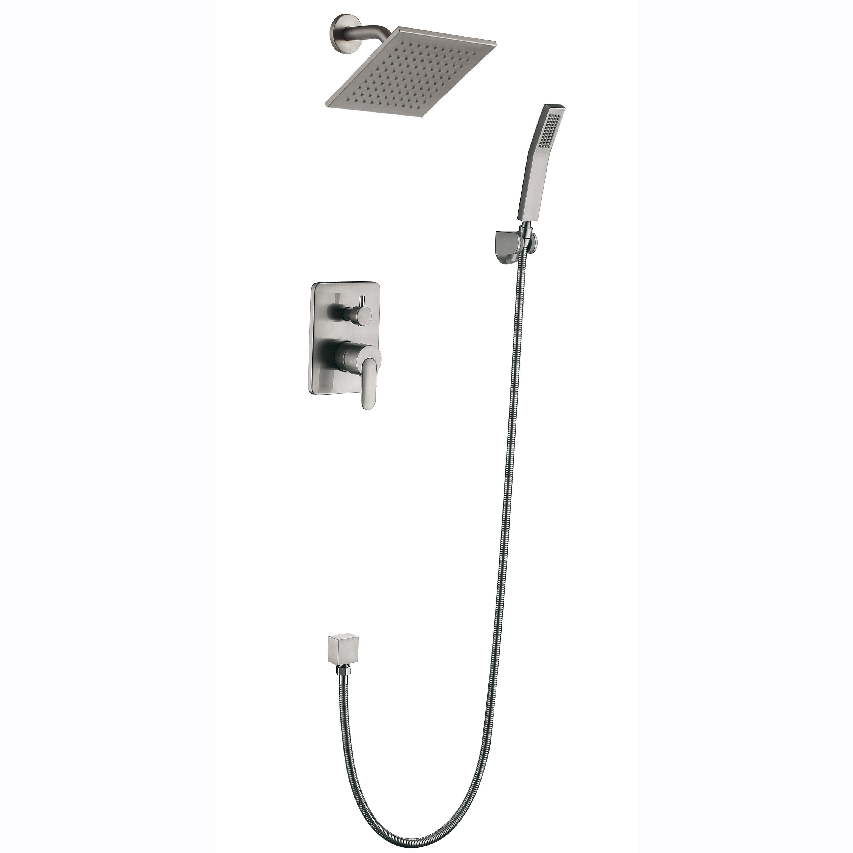 2019 shower faucet system brass mixed 8 inch rain shower wall rh dhgate com