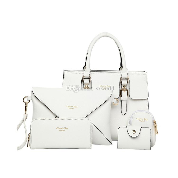 2a1afaa55593 White Toothpick Pattern Leather 5 in 1 Shoulder Messenger Bag Women Fashion  Hand Bags Fashion Hand Bags Online with  23.2 Piece on Sxworld s Store