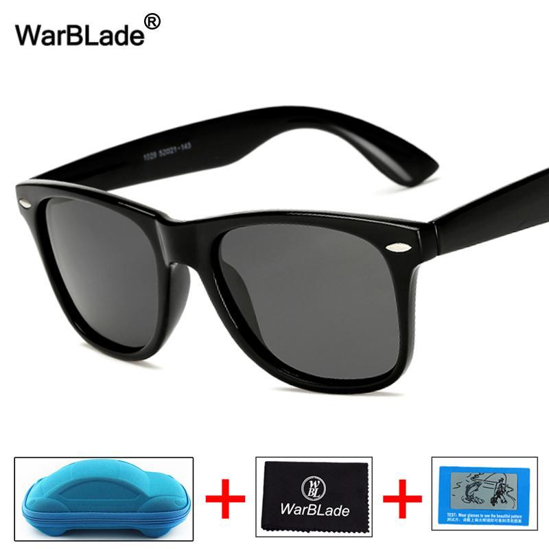 Compre WarBLade Gafas De Sol Polarizadas Hombres Cuadrados Espejo De  Conducción Puntos De Revestimiento Marco Negro Gafas Visión Nocturna Gafas  De Sol A ... 326c9041e5a1