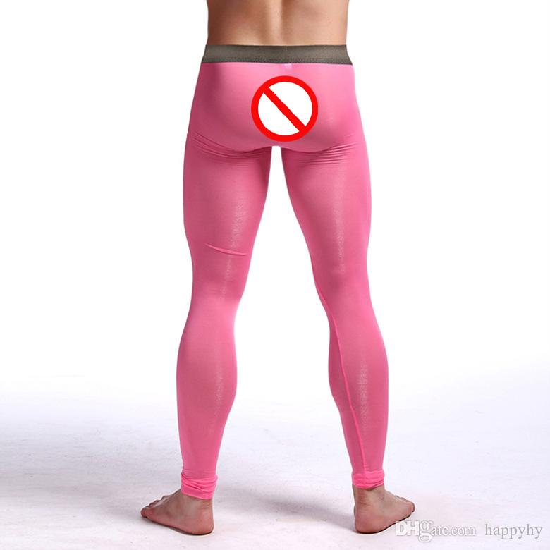 Sexy Men's Underwear Clothing Transparent Zentai Leggings Ballet Soie Longs Costumes Super stretch Nylon Spandex pour Hommes Livraison gratuite