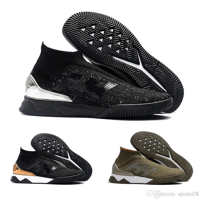 d35db9279f3 2019 Mens Predator Tango 18+ TR UltraBoost Casual Soccer Boots Primeknit  Black Silver SockFit Soccer Cleats Predator 18.1 FG Classic Soccer Shoe  From ...