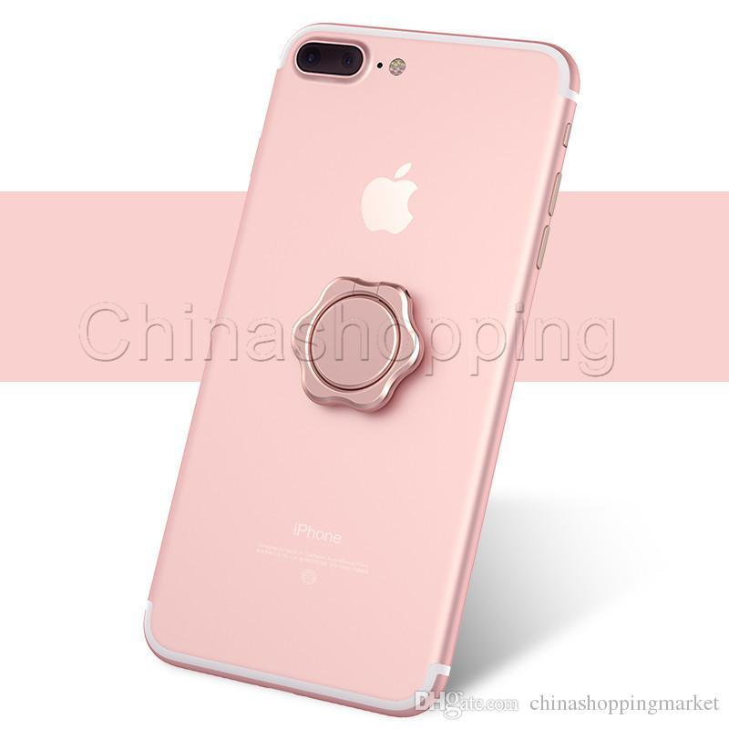 Titulaire magnétique de fleur de métal de téléphone portable de support de support universel de fleur de 360 degrés adapté pour Smartphone