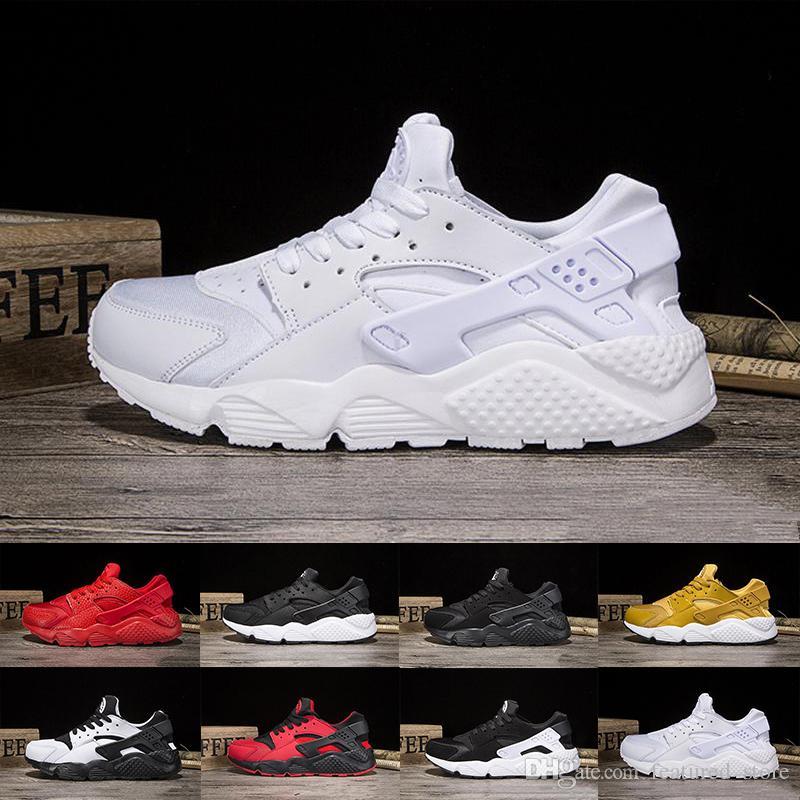 b5b5ff3852f Huaraches 1.0 I 4 IV Running Shoes For Men   Women Black Red White Gold Air  Huarache Run Breathable Mesh Cushion Sneakers 36 45 Trail Shoes Shoes  Running ...
