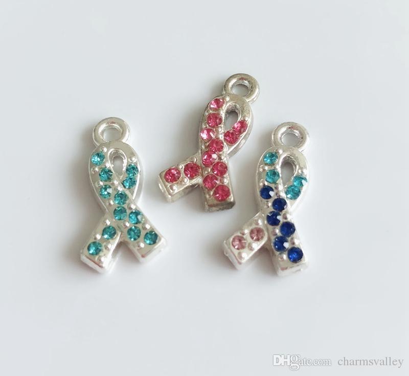 Смешанный стиль галстук-бабочка рак молочной железы маркер Теги слайд подвески слайд письма повесить подвески DIY аксессуары Fit ремни, браслеты, ожерелья