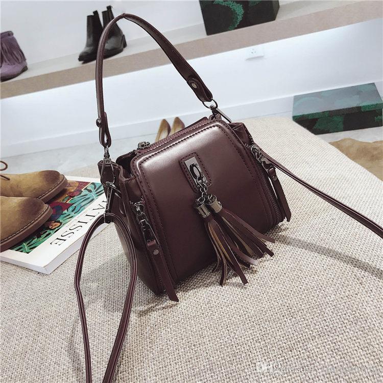 2018 Casual Mini Ladies Handbags Black Leather Designer Handbags For ... 9162b413ec577