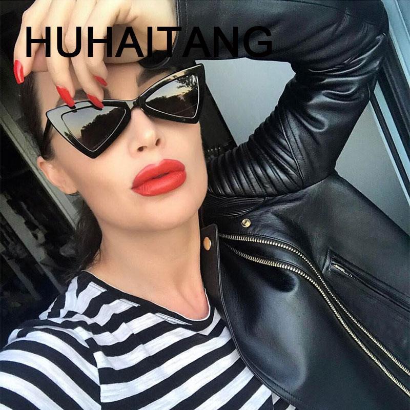 Compre HUHAITANG Moda Cat Eye Sunglasses Mulheres Do Vintage Feminino  Triângulo Sexy Óculos De Sol Para Homens 2018 Designer De Marca De Luxo  Eyewear De ... 74103ea13d