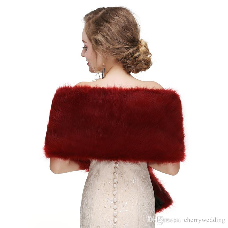 CMS58 Bridal fur stole, Vintage stole red faux fur shrug, High quality faux fur bridal wrap, perfect for brides, bridesmaids and events wea