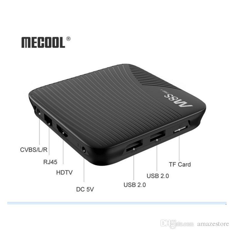 Amlogic S912 Android 7.1 TV Kutusu Mecool M8S Pro L 3 GB 32 GB Octa Çekirdek Netflix Dual Band Wifi Youtube 4 K Medya oyuncu