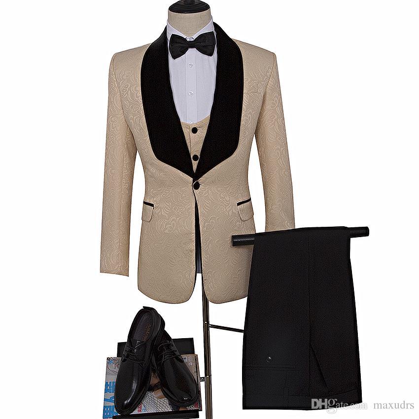 Grosshandel Beige Mann Blazer Als Hochzeit Anzug Beige Brautigam