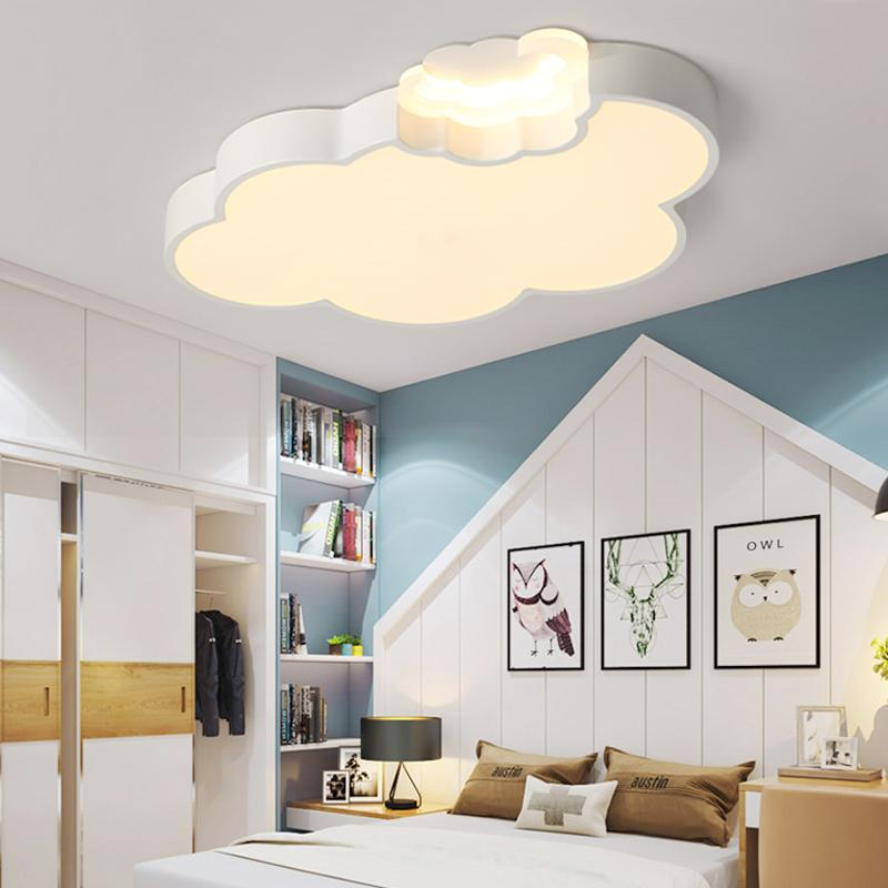 LED Cloud Kids Room Lighting Children Ceiling Lamp Baby Ceiling Light With  Dimming For Boys Girls Bedroom Lamp Led Glass Hanging Lights Hanging Lights  ...