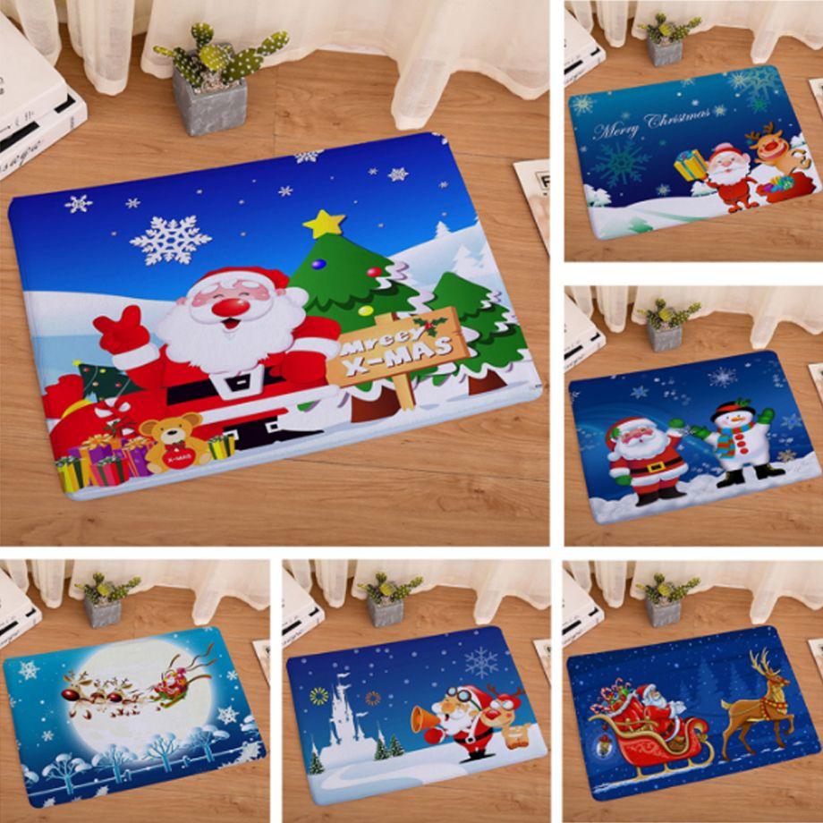 Großhandel Neue 40x60 Cm Weihnachts Teppiche Anti Rutsch Bodenmatte ...