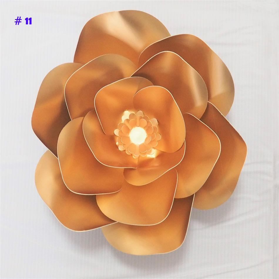 Giant Paper Flowers Artificial Rose Diy Large Paper Rose Wedding Event Backdrop Baby Nursery With Video Tutorials 1 Piece Fake Flowers