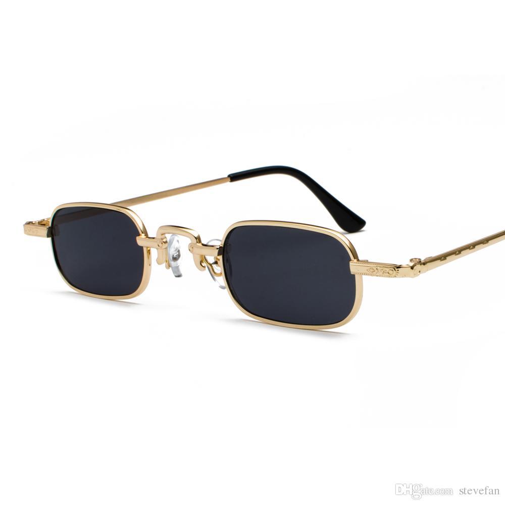 2d4dd0b7a5 Small Narrow Rectangle Sunglasses Men Etro 2019 Clear Lens Metal Frame Male  Sun Glasses For Women Square Black Baseball Sunglasses John Lennon  Sunglasses ...