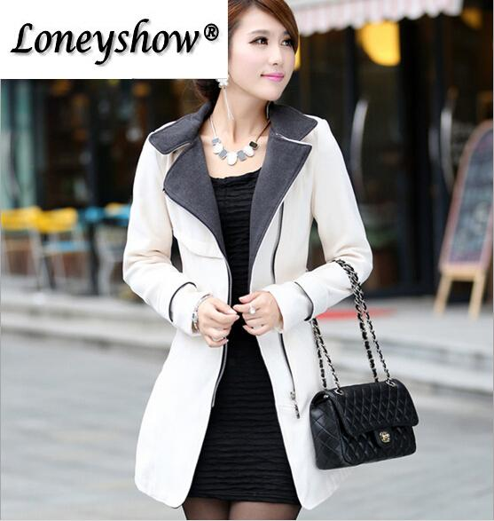 Spring Autumn New Slim Long Wool Trench Coat For Women Stand Collar Woolen Coats With Belts Multiple Colors Ladies Tops