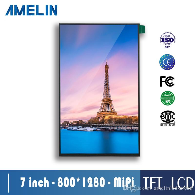 high definition 7 inch 800*1280 TFT LCD Module screen with MIPI Interface  display and IPS viewing angle panel