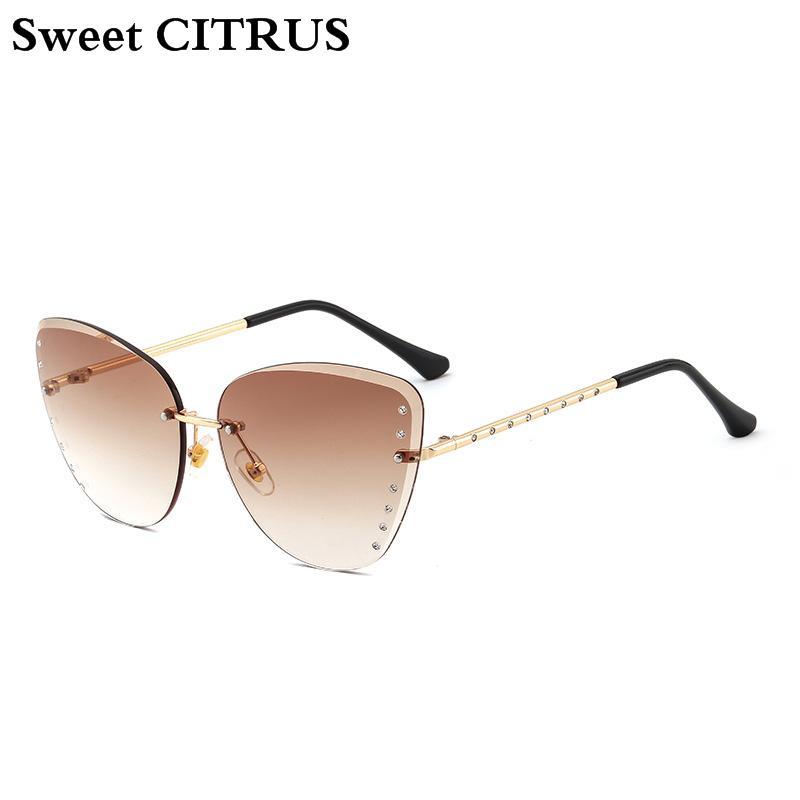 43c0600f201e Sweet CITRUS 2018 New Cat Eye Sunglasses Women Fashion Luxury Brand ...