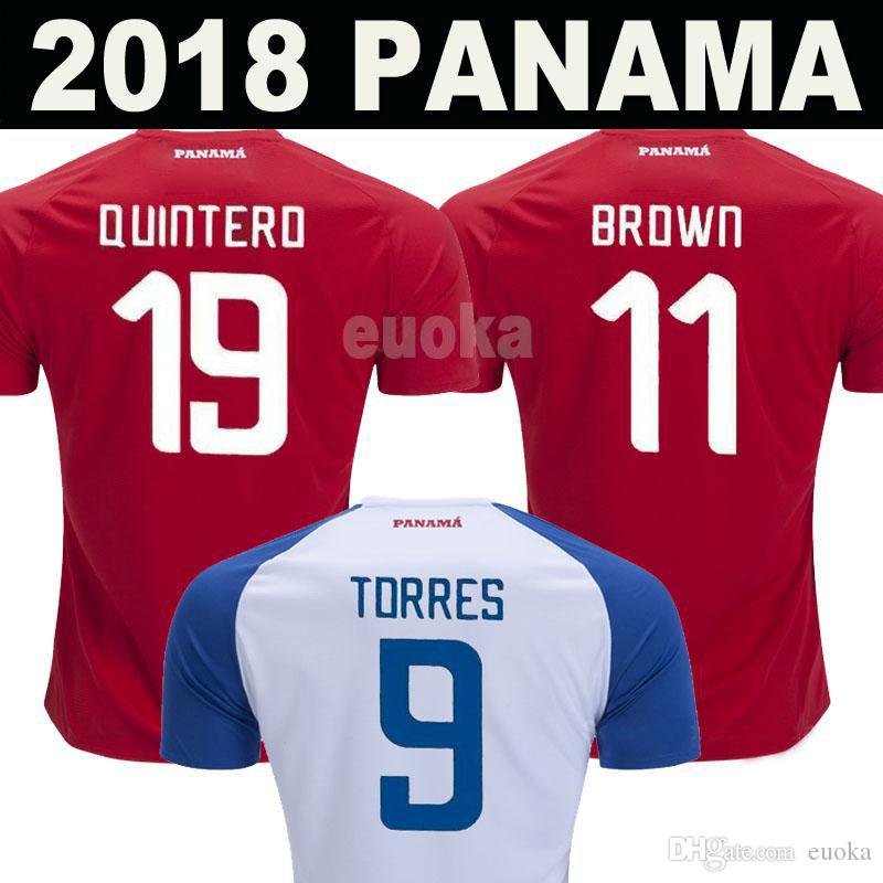 new arrival f13d3 4375a New 2018 Panama World Cup jerseys TORRES QUINTERO B.PEREZ BROWN NURSE  Football shirts 18 19 Panama National Team home away Soccer Jerseys
