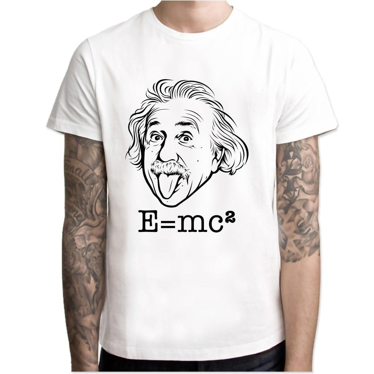 fb94c6696 Compre Albert Einstein E MC2 Genius T Camisa Hip Hop Estilo Novo Design  Original T Shirt Legal Moda Men Tshirt Cor M7R1272 De Amesion89