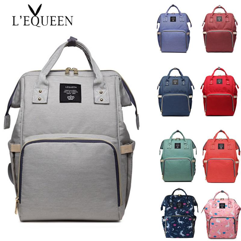 c07aef65a5fe LEQUEEN Diaper Bag Portable Travel Backpack Baby Care Nursing Bag Large  Capacity Mummy Daddy Storage