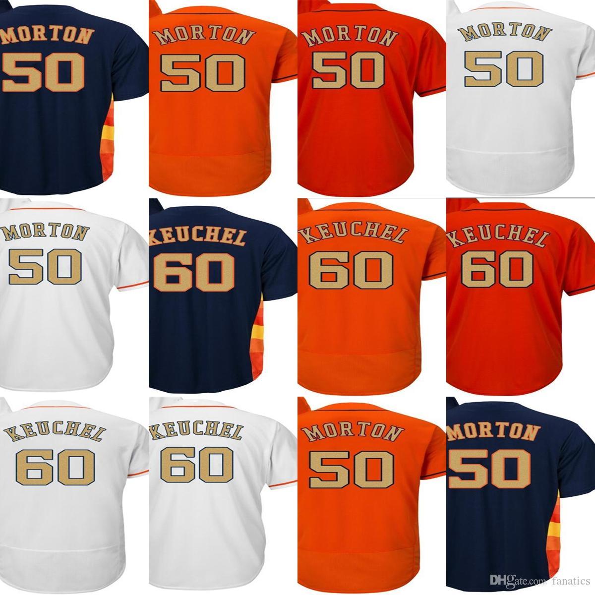 Cheap Men Lady Kid Toddler 2018 Gold Program Houston 50 Charlie Morton 60  Dallas Keuchel White Orange Blue Stitched Baseball Jerseys 2018 Gold  Program ... 73bc5cfb2