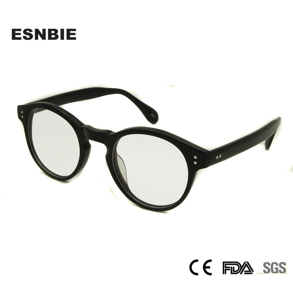Compre ESNBIE Designer New Clear Eye Óculos Redondos Rodada Armações De  Óculos Homens Miopia Vintage Óptica Óculos De Armação Para As Mulheres 2017  De ... f3ac451e4b