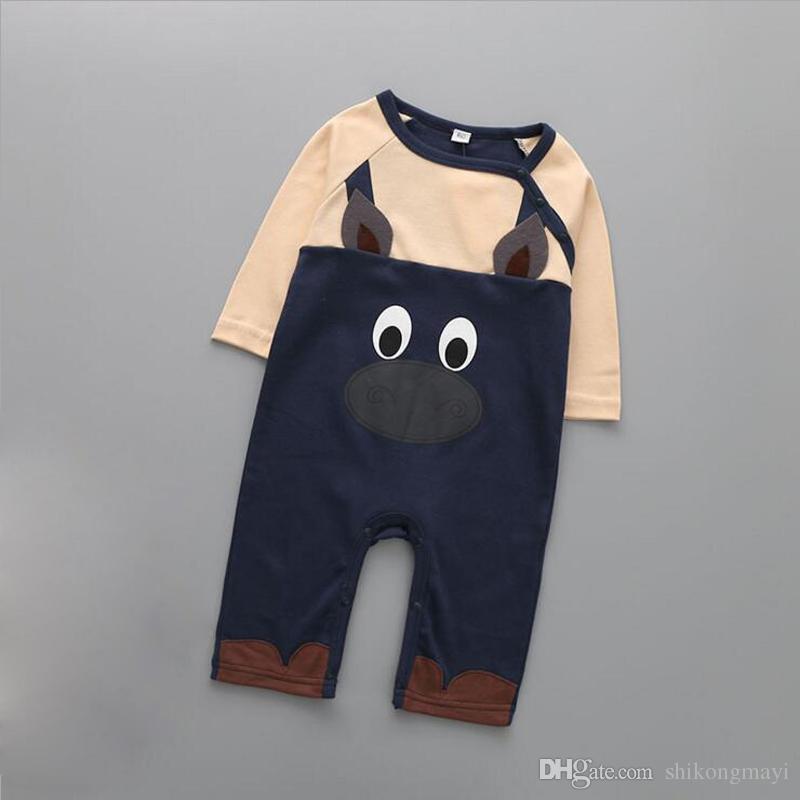 طويلة الأكمام القطن الطباعة الوليد طفلة ملابس لطيف الطباعة الطفل السروال القصير الشتاء أزياء الفتيات الفتيان الملابس حللا الرضع حلي