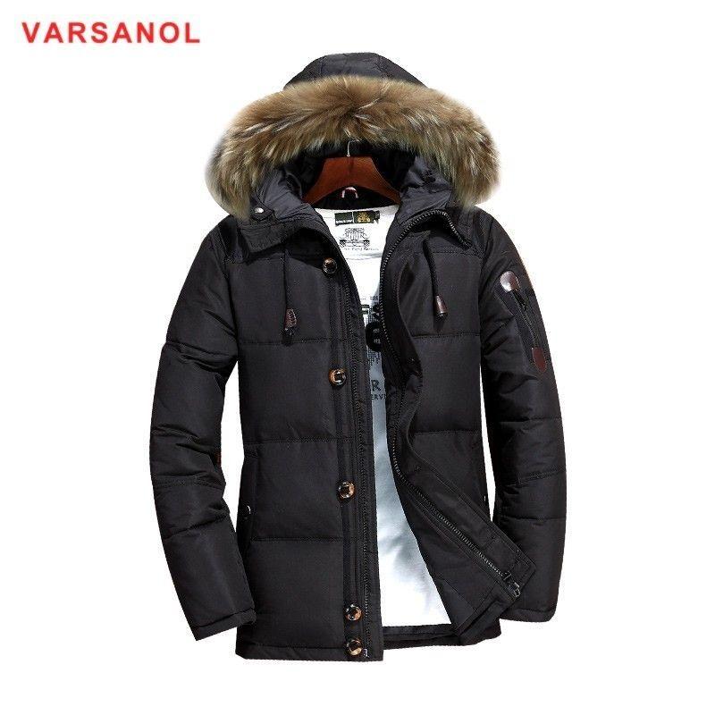 8117d8f3e28e Großhandel Varsanol Hooded Coat Winterjacken Mann Dicke Daunenjacke Mit Hut  Lässige Herren Warm Outwear Neuankömmlinge Daunenjacken 3xl L18101104 Von  Tai03, ...