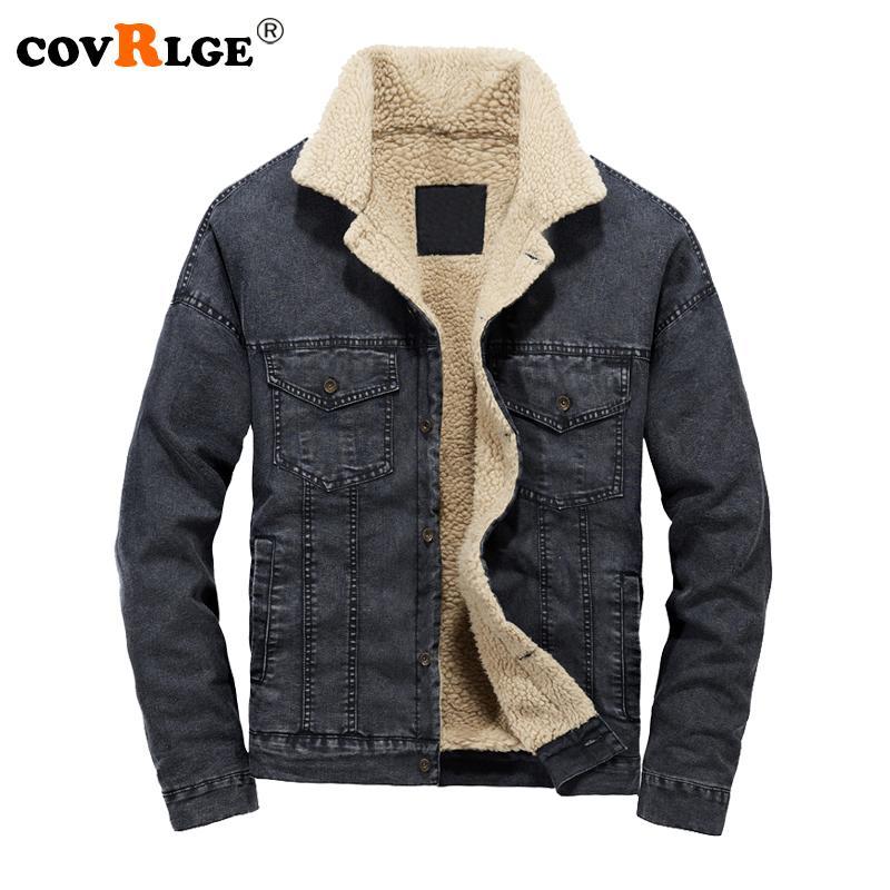 fd029ee6dafe Covrlge 2018 Winter New Men Denim Jacket Fashion Plus Size Loose ...