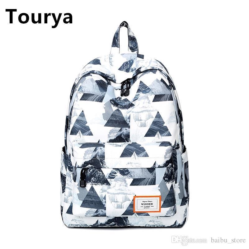 Tourya Casual Women Backpack School Backpacks Bags Bookbag for Teenagers  Girls Laptop Backbag Travel Daypack Mochila Feminina Women Backpack School  Bagpack ... 7d97a0bca6