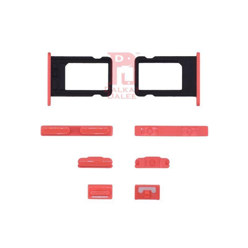 iPhone 5C Pulsante di accensione Pulsante volume Pulsante muto Pulsanti laterali Set + Slot scheda SIM Parti di ricambio Blu Rosa Bianco Verde Giallo