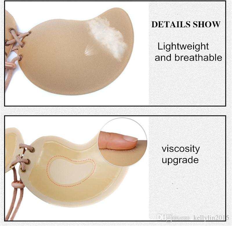 Women Strapless Bra Invisible Bra Butterfly Wing Bras Silicone Push Up A B C D Breast Pad Strapless Backless Bra