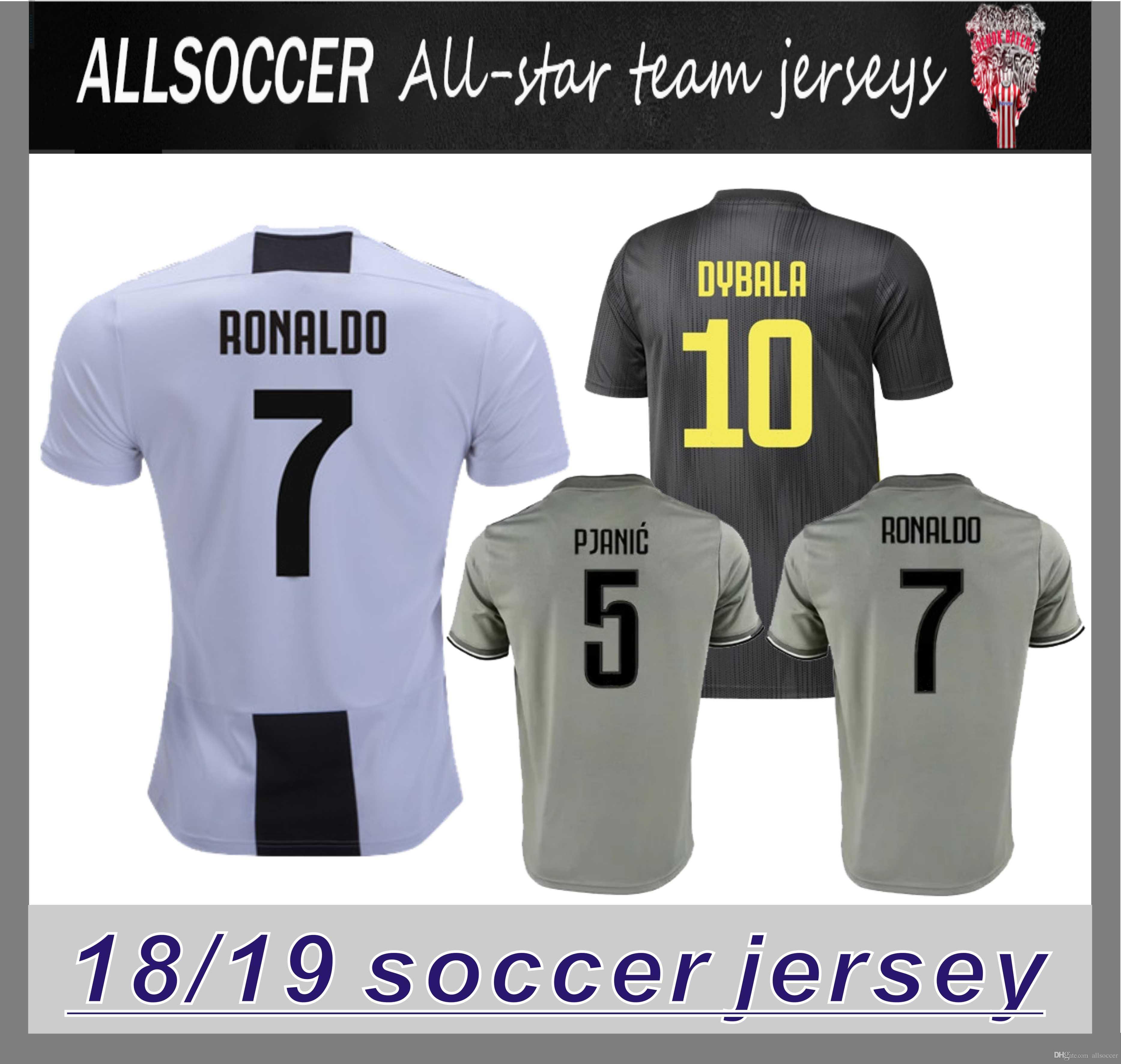 f22d8538a 2019 7 RONALDO 18 19 Soccer Jerseys Dybala HIGUAIN Tshirts CHIELLINI Costa  KHEDIRA Cuadrado PJANIC Manzukic 2019 Top Quality Jersey From Allsoccer